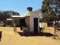Tanque de agua construída por FUNASA, comunidad de Lagedo, São Francisco, MG