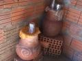 Potes de barro para agua de beber, comunidad de Lagedo, São Francisco, MG