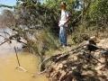 Punto de Captación de agua del Rio Pardo, comunidad de Lagedo, São Francisco, MG