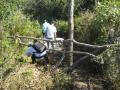 Visita a pozo cavado, comunidad de Lagedo, São Francisco, MG