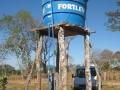 Tanque de agua para distribución colectiva, comunidad de Lagedo, São Francisco, MG
