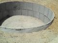 Cisterna de placa em construção