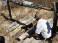 Cobertura do poço de um morador da comunidade de Lagedo, São Francisco, MG
