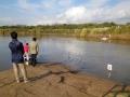 Fazendo trabalho de campo, Bacia do Rio Carcarañá 6