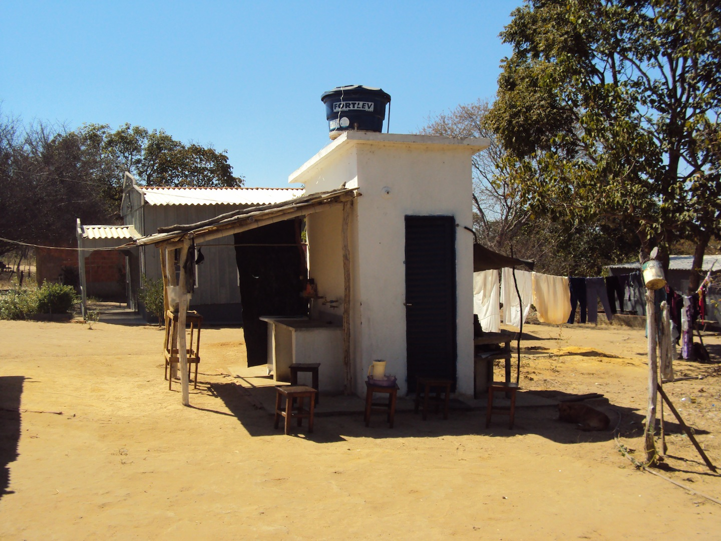 Water tank built by Brazil's National Health Foundation, Lagedo community, São Francisco, MG