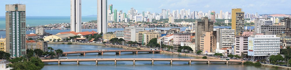 Capibaribe river mouth, Recife, Brazil
